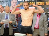 Curtis Woodhouse weighs in for his WBO Intercontinental Welterweight Championship on July 15, 2011