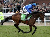 Hurricane Fly ridden by jockey Ruby Walsh going to post prior to the Stan James Champion Hurdle Challenge Trophy during day one of the 2013 Cheltenham Festival on March 12, 2013