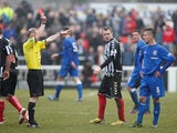 Rangers' Ian Black is dismissed during the game with Elgin City on March 16, 2013