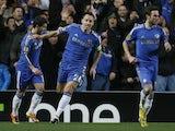 Chelsea captain John Terry celebrates a goal against Steaua Bucharest on March 14, 2013