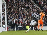 St Mirren's Esmael Goncalves scores during the Scottish Communities League Cup Final on March 17, 2013