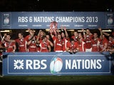 Wales celebrate Six Nations victory on March 16, 2013