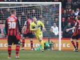 Bury's Andy Bishop celebrates moments after scoring the equalising goal against Bournemouth on March 23, 2013