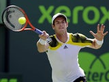 Great Britain's Andy Murray in action during the Miami Masters tennis tournament on March 23, 2013