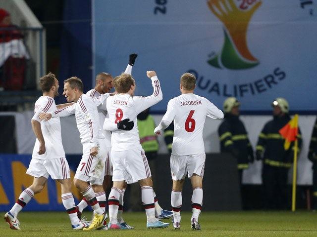 Result: Agger penalty earns Denmark draw