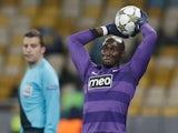 Porto's Eliaquim Mangala takes a throw in on November 6, 2012