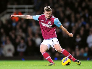 West Ham's George McCartney in action on November 19, 2012
