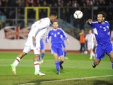 England's Daniel Sturridge scores his side's seventh goal in their World Cup qualifier with San Marino on March 22, 2013