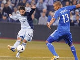 Sporting KC's Claudio Bieler scores during his side's MLS clash with Montreal Impact on March 30, 2013