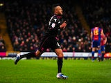 Birmingham City's Nathan Redmond celebrates scoring in the Championship match with Crystal Palace on March 29, 2013