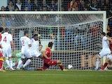 Montenegro's Dejan Damjanovic equalises against England on March 26, 2013