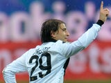 Parma's Gabriel Paletta celebrates after scoring his team's second against Pescara on March 30, 2013