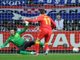 Wales' Gareth Bale scores a penalty against Croatia on March 26, 2013