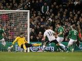 Austria's Martin Harnik scores against Republic of Ireland on March 26, 2013