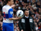 Reading boss Nigel Atkins on the touchline during the match against Arsenal on March 30, 2013