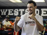 Robert Guerrero poses Westside Boxing Club on November 19, 2012