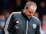 West Brom boss Steve Clarke during the match against West Ham on March 30, 2013