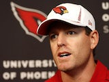 Arizona Cardinals quarterback Carson Palmer speaks at a press conference on April 2, 2013