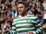Celtic's Kris Commons celebrates scoring against Hibernian on April 6, 2013