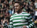 Celtic's Kris Commons celebrates scoring against Hibernian on April 6, 2013