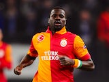 Galatasaray defender Emmanuel Eboue in action against Schalke on March 12, 2013