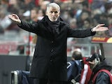 Bordeaux's coach Francis Gillot during his side's Europa League match against Benfica on March 7, 2013