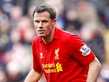 Liverpool's Jamie Carragher in action on March 10, 2013