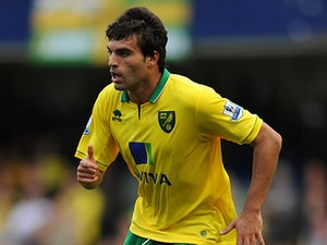 Norwich City's Javier Garrido in action on October 6, 2012