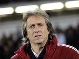 Benfica manager Jorge Jesus on the touchline on March 17, 2013
