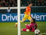 Barcelona's Lionel Messi scores the opening goal against Paris Saint-Germain on April 2, 2013