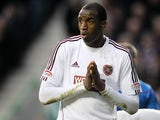 Heart's player Michael Ngoo during the Scottish Communities League Cup semi final on January 26, 2013