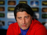 Basel boss Murat Yakin during a press conference on April 3, 2013