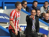 New Sunderland boss Paolo Di Canio on the touchline during the match against Chelsea on April 7, 2013