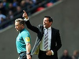 Southend manager Phil Brown on the touchline during the Johnstone's Paint Trophy final against Crewe on April 7, 2013