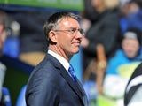 Reading's manager Nigel Adkins during the Premier League match against Southampton on April 6, 2013