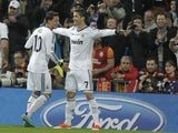 Real Madrid's Cristiano Ronaldo celebrates after scoring against Galatasaray on April 3, 2013