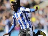 Sheffield Wednesday's Jermaine Johnson celebrates scoring the equaliser against Blackburn Rovers on April 6, 2013