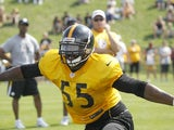 Steelers' Stevenson Sylvester at practice on July 28, 2012