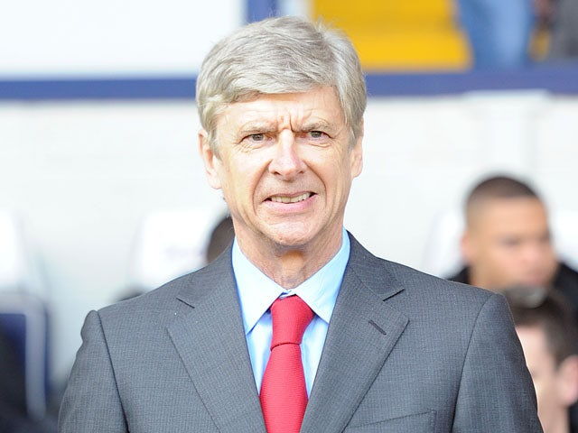Arsenal manager Arsene Wenger prior to his side's match against West Bromwich Albion on April 6, 2013