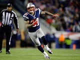 New England Patriots tight end Aaron Hernandez in action on January 20, 2013