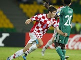 Croatia's Andrej Kramaric celebrates after scoring during a U-20 World Cup group D soccer match against Nigeria on August 3, 2011