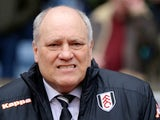Fulham manager Martin Jol before his side's match against Aston Villa on April 13, 2013