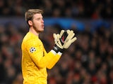 Manchester United goalkeeper David De Gea during the Champions League clash with Real Madrid on March 5, 2013