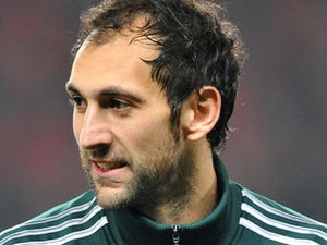 Real Madrid goalkeeper Diego Lopez before his side's match against Manchester United on March 5, 2013