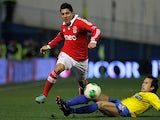 Benfica's Enzo Perez in action on January 6, 2013