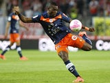 Montpellier's Henri Bedimo in action on May 13, 2012