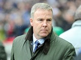 Millwall boss Kenny Jackett prior to kick off in the FA Cup semi final match against Wigan on April 13, 2013