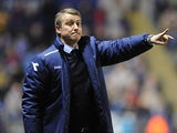 Birmingham City boss Lee Clark on the touchline during the match against Leicester on April 12, 2013