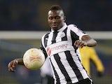 Newcastle's Mapou Yanga-Mbiwa in action against Metalist on February 21, 2013