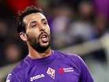 Fiorentina's Mounir El Hamdaoui in action on December 2, 2012